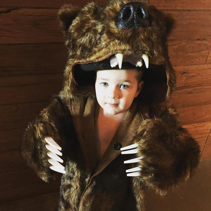 Sonny embraced his grizzly side in this hilarious bear costume.