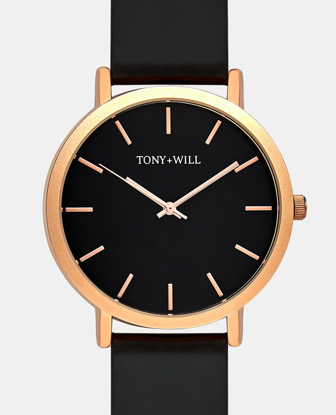"""**Tony & Will watch, $89.99** <br><br> Make sure mum arrives on time and in style with this classic old school leather-banded watch. <br><br> Purchase it from THE ICONIC [here](https://www.theiconic.com.au/classic-792629.html