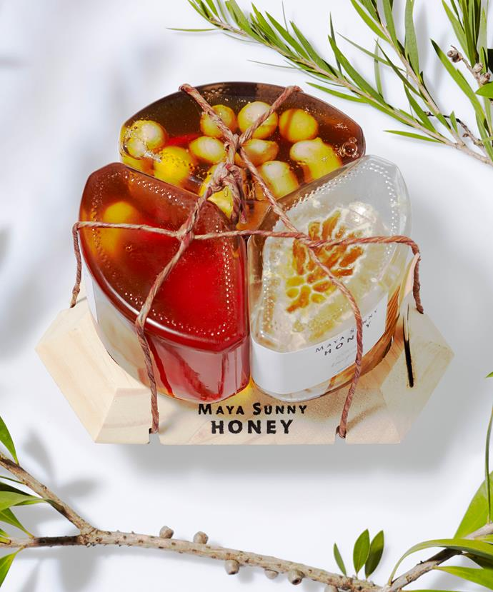 """**Maya Sunny Honey 3-pack, $52** <br><br> Make mum feel extra sweet this Mother's Day with this 100% raw honey set. Featuring a classic Eucalyptus honey, Macadamia Crunch and Honeycomb where the bees sculpt it inside the jar. <br><br> Get it straight from the source [here](http://www.mayasunnyhoney.com.au/store/three-pack-honeycomb