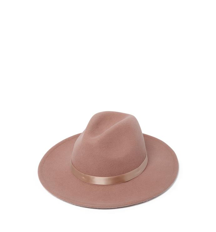 """**Forever New fedora, $49.99** <br><br> Good bye bad hair day! Add on this stylish hat and they won't even notice! <br><br> Purchase it from their online store [here](https://www.forevernew.com.au/harriet-felt-fedora-263185?colour=dusty-roseW