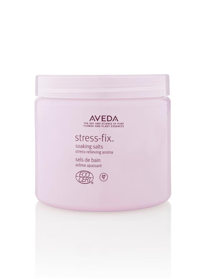 """**Aveda Stress-fix Soaking Salts, $60** <br><br> These deeply relaxing salts use organic lavender and clary sage to gently calm the mind and reduce feelings of stress. <br><br> Buy it online [here](https://www.aveda.com.au