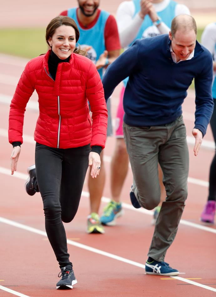 Launching their mental health charity Heads Together in 2017, Kate and Wills joined Harry in a thrilling race that drew every eye in the vicinity.