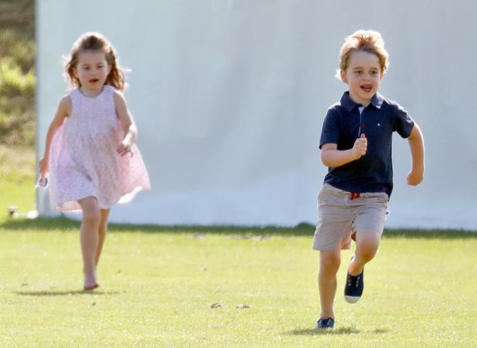 And Charlotte is right there with him. We're pretty sure she'll manage to beat George at running one of these days.