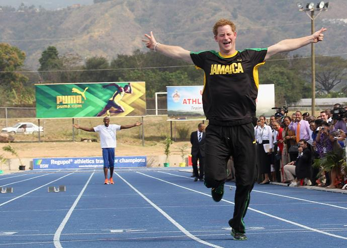 Prince Harry certainly inhertited his mother's competitive streak! During a visit to Jamaica in 2012, the prince went head to head against running champion Usain Bolt... and he won!