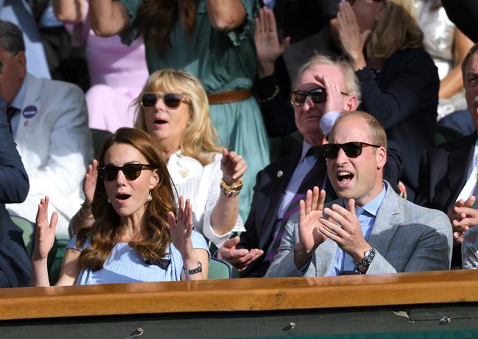 Another year, another Wimbledon nail biter. Kate and Wills were pictured looking stressed, then excited, then stressed, then surprised as they watched the grand final in 2019.