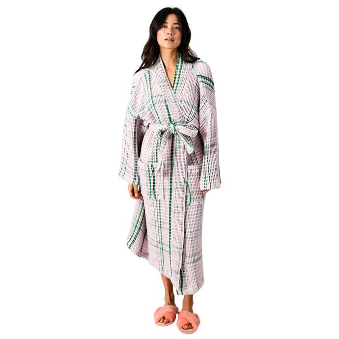 """**Kip & Co. bathrobe, $99** <br><br> Step out of the shower and into chic-est and most comfortable of robes. <br><br> Purchase one online [here](https://kipandco.com.au/collections/gift-guide/products/lilac-moss-bath-robe