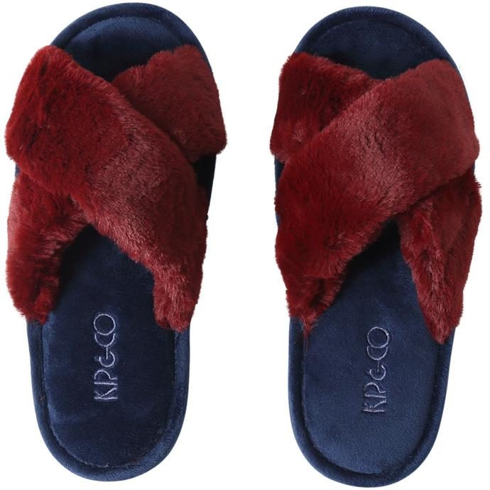 """**Kip & Co. slippers, $35** <br><br> Just a little more plush then the average slipper... a little. <br><br> Slip into these on their [website](https://kipandco.com.au/collections/gift-guide/products/midnight-merlot-womens-slippers