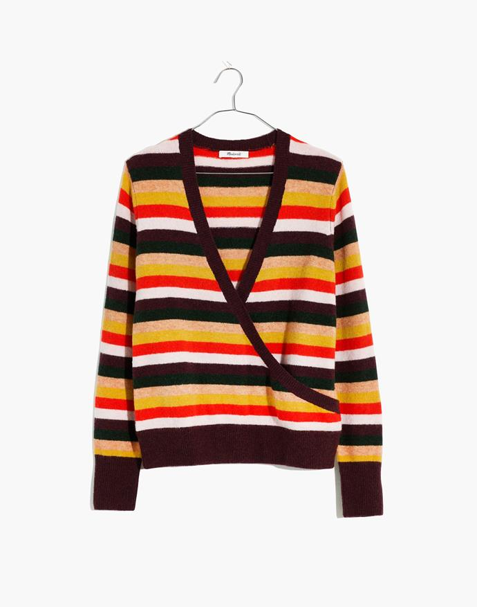 """**Madewell jumper, $159.95 at David Jones** <br><br> The bold stripes of this jumper are sure to stand out. <br><br> Purchase via the David Jones online store [here](https://www.davidjones.com/brand/madewell/23416326/Multi-Stripe-Sweater-Wrap-Front-Pullover.html