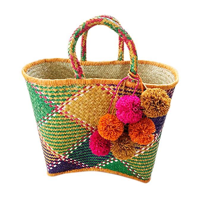 """**My Island Home Biarritz Basket, $80** <br><br> This colourful basket is sure to brighten up a dreary winter, using all-natural materials! <br><br> Shop their full range of accessories [online](http://www.myislandhome.com.au/accessories