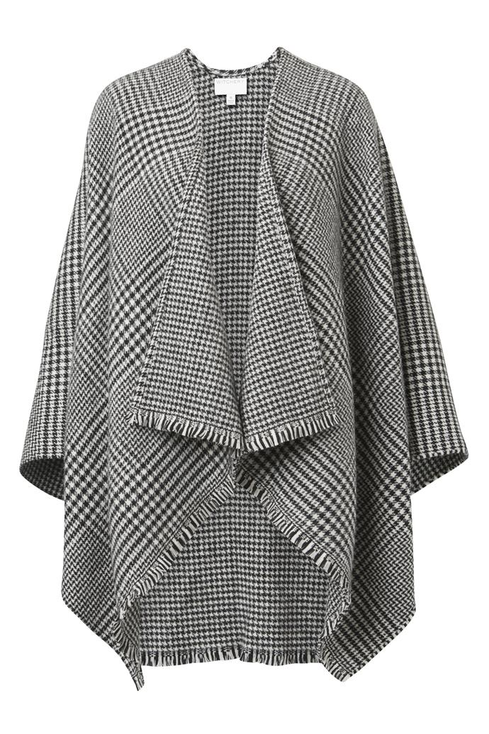 """**Witchery wrap, $149.95** <br><br> Wrapped up like a warm hung, this stylish wrap is a must-have for the winter ahead! <br><br> Visit their online store [here](https://www.witchery.com.au/products/60253664/Reversible-Check-Wrap.html