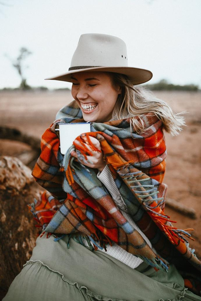 """**The Grampians Goods Co. recycled wool blanket, $169** <br><br> Let's support our outback Aussies and buy from the bush. This blanket is handmade from recycled wool. <br><br> Visit their online store [here](https://grampiansgoodsco.com.au/product/heritage-collection-recycled-wool-scottish-tartan-blankets-autumn/