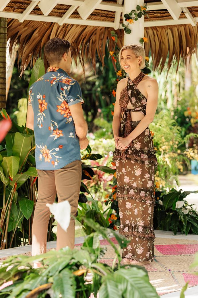 And when Alex Nation came face-to-face with her ex Richie Strahan on *Bachelor In Paradise*, she was the epitome of tropical chic.