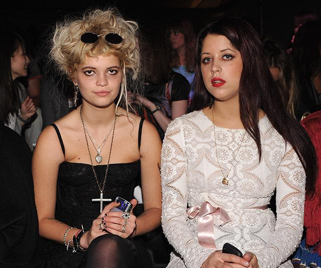 Front-row fixtures: Pixie and Peaches at London Fashion Week.