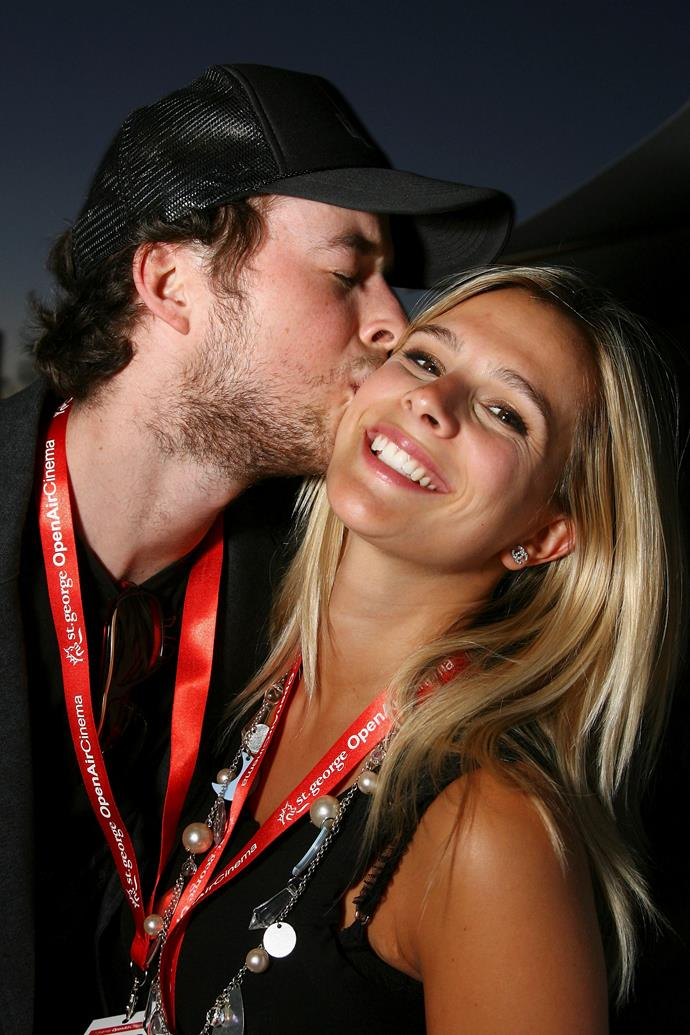 Hamish and Anna sharing a sweet moment at the St George Open Air Cinema in Sydney in 2007.