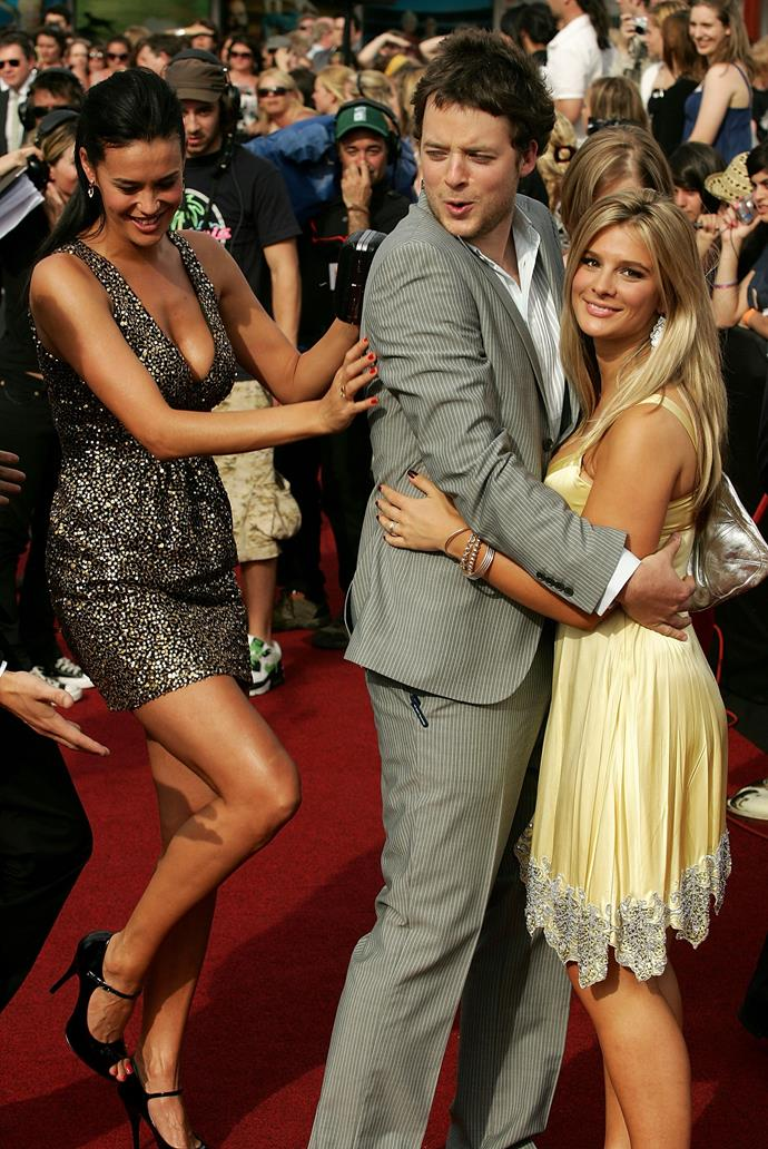 Megan getting in on Hamish and Anna's red carpet moment at the 2007 ARIA Awards.