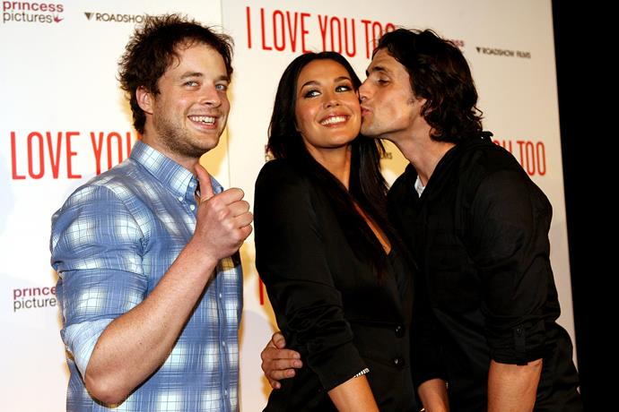 Hamish was the ultimate third wheel at this red carpet premiere in 2010.