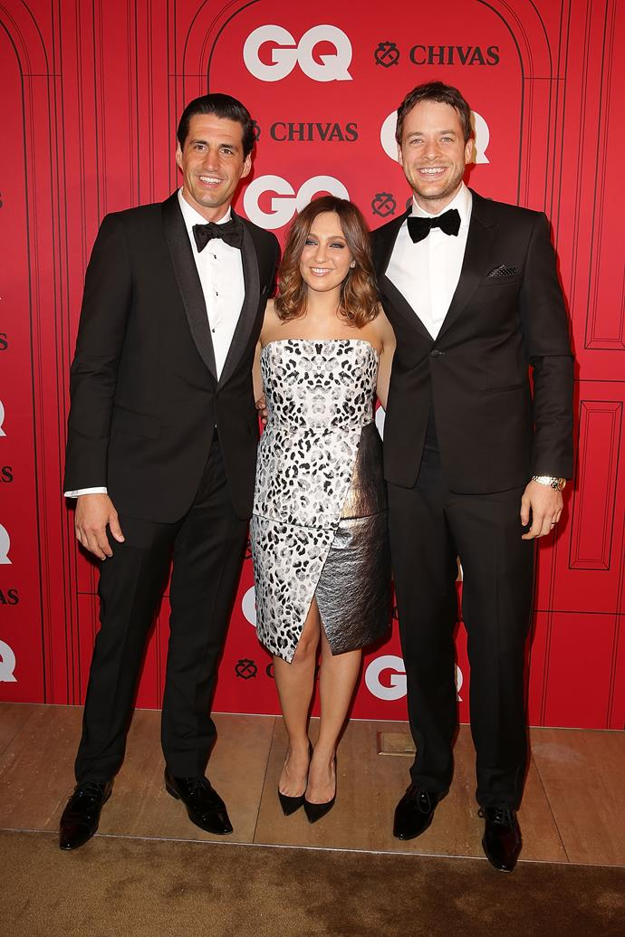 Andy, Zoe Foster Blake and Hamish Bake at the GQ Man of the Year Awards in 2015.