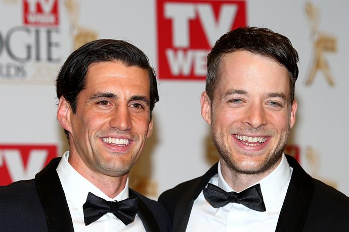 The handsome duo on the red carpet at the 2015 Logie Awards.