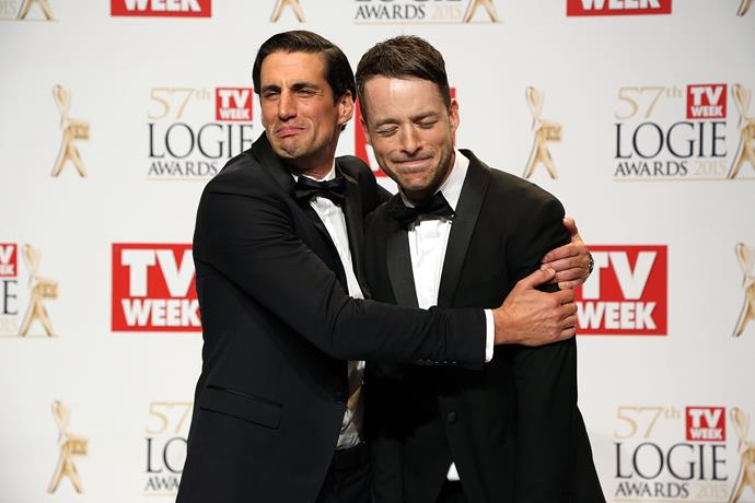 Andy and Hamish sharing a bromance moment on the red carpet.