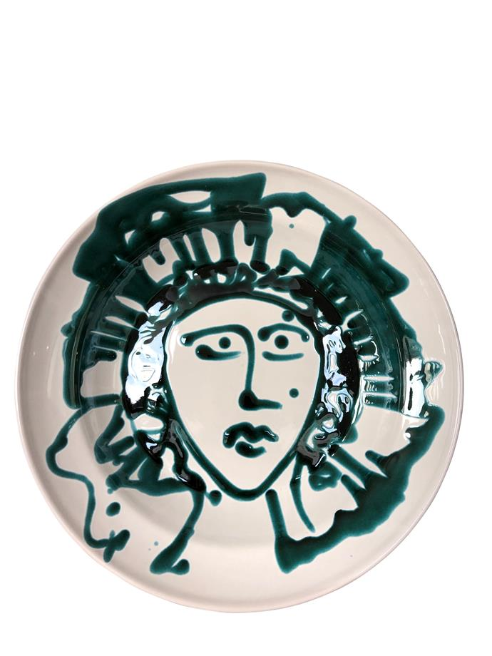 """**Alex and Trahanas salad bowl, $340** <br><br> Whether you choose to make it the centre of attention or add some flare into the kitchen this beautiful hand painted ceramic bowl will be sure to put a smile on your mums dial.  <br><br> See this and other designs online [here](https://alexandtrahanas.com/collections/ed05-la-bella-figura/products/apulian-large-salad-serving-bowl-green