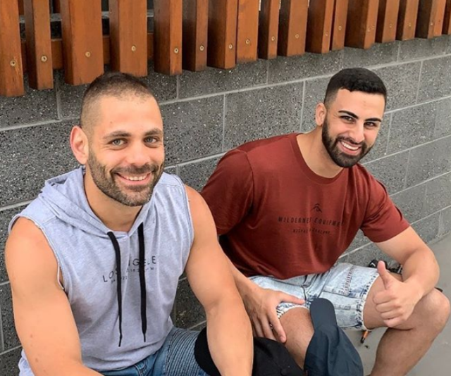George (left) and Laith (right) admit they like the same type of woman.