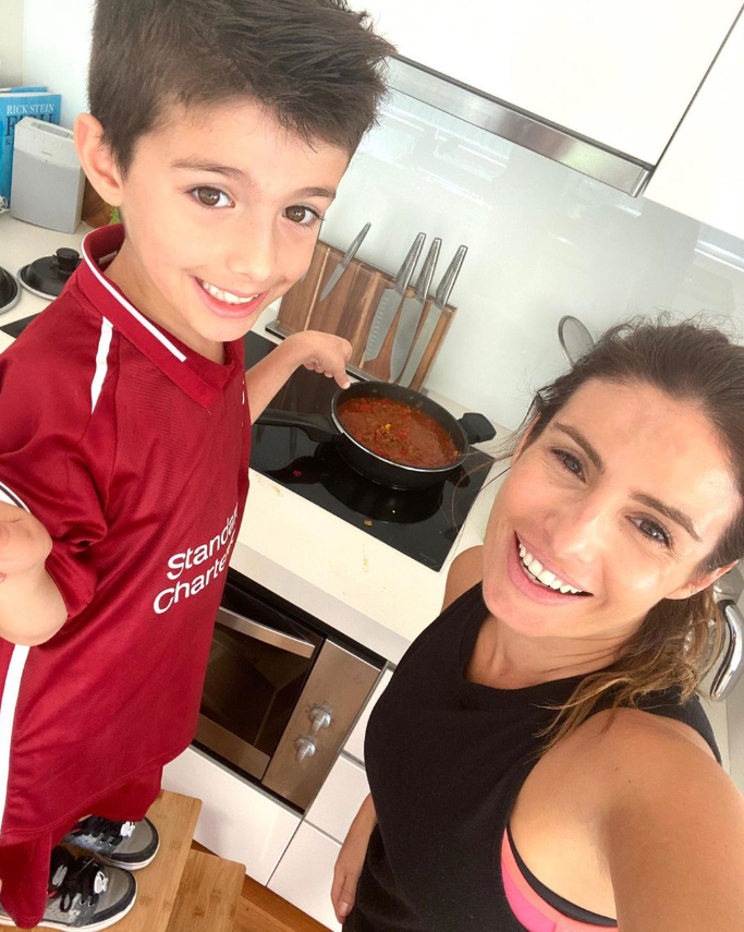 Ada loves cooking with son Johnas.