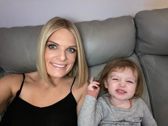 Erin with her daughter Eliza.