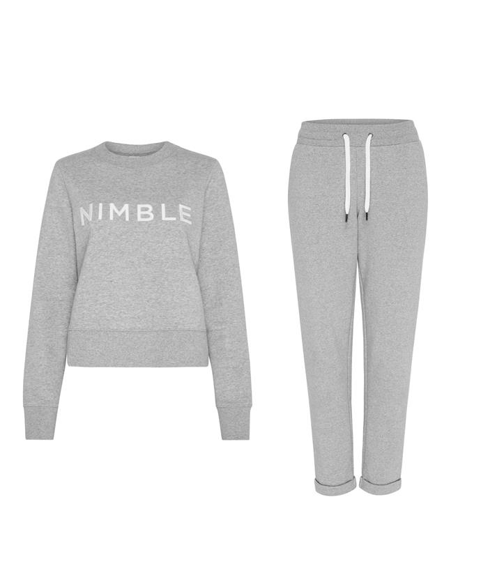 """**Nimble crew, $109** <br>  **Nimble pant, $99**   <br><br> Lounge comfortably with this cotton set from a brand that is proudly sustainable. Need we say more?   <br><br> Browse their full range of active wear [here](https://nimbleactivewear.com