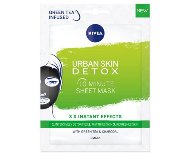 NIVEA's Urban Skin Detox sheet mask.