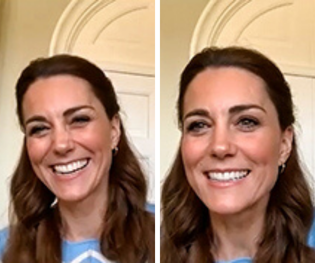 The Duchess looked glowing in the clip.