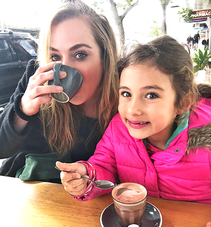 Girl gang! Jess and Scout enjoy a mother-daughter date.
