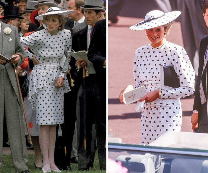 As for her Royal Ascot polka-dot ensemble in 1987? A knockout, if we ever saw one.