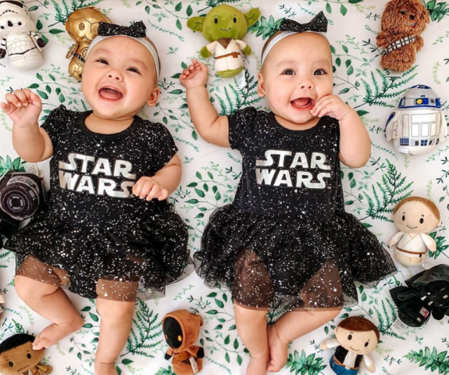 **Debra Ch'ng** <br><br>  *My Kitchen Rules* semi finalist from 2015, Debra Ch'n,g shared this absolutely adorable photo of her twins all dressed up for the occasion, complete with matching plush toys.