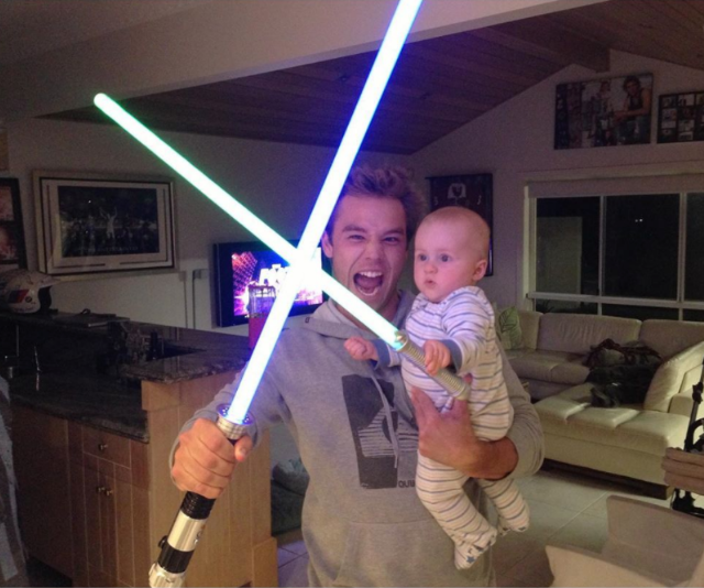 **Lincoln Lewis** <br><br> He's even training the next generation of Jedi. Cute!