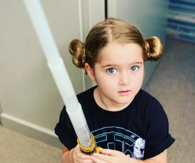 "**David Campbell**<br><br>  We can't get enough of David Campbell's daughter dressed as Princess Leia. The TV presenter and entertainer wrote: ""May the Fourth Be with you all. Especially the girls who want to start out as a Princess and end up a General."""