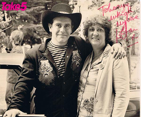 Elton and me in 1971, he was a bona fide star.