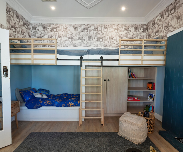 Their kids' bedroom for eight-year-old Luke was a hit for its creativity and purpose but details like unfinished wallpaper let them down.