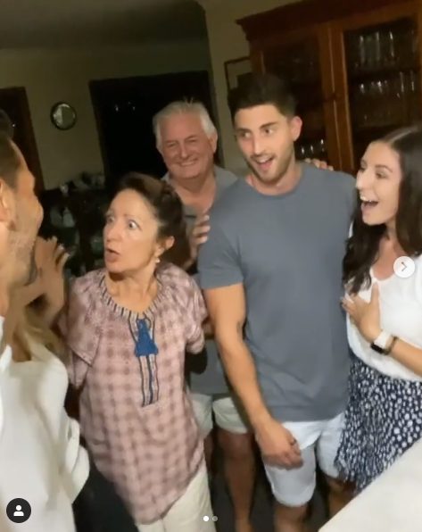 Anna's mum's reaction was gold, but we loved Tim's mum's too!