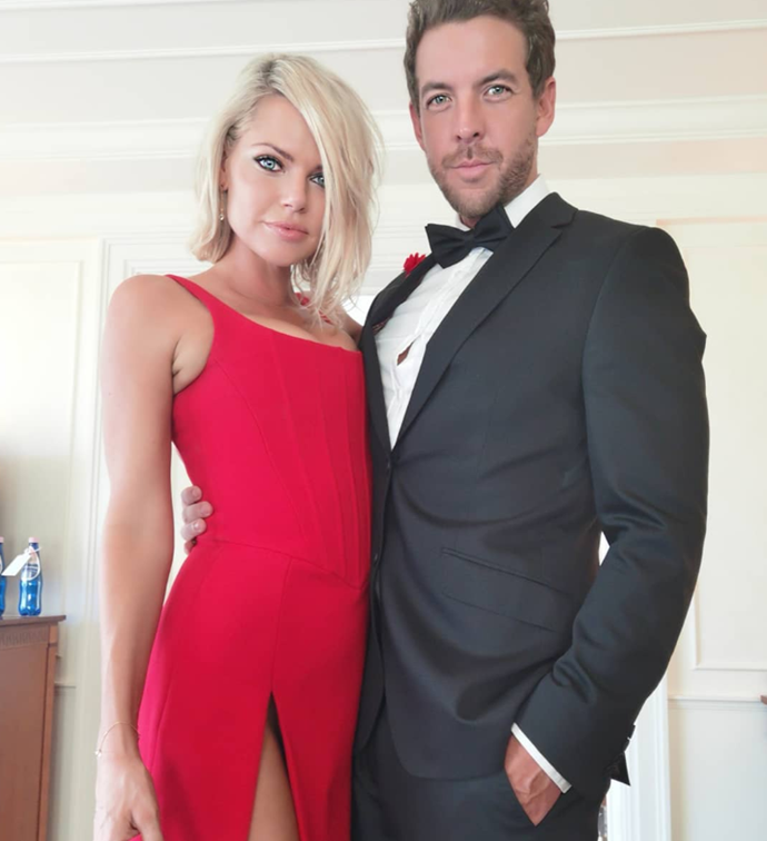 Red hot! Sophie and Joshua made their public debut at a 2019 benefit for the Daniel Morcombe Foundation of which Sophie is an ambassador.