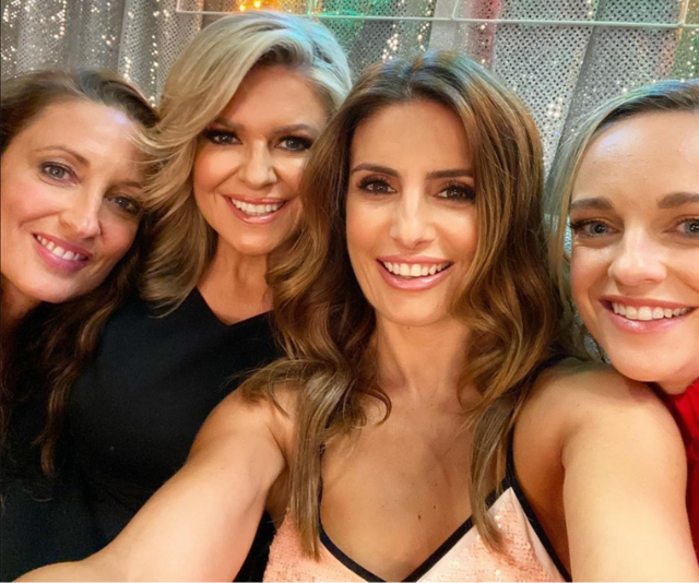 Ada with her co-stars, Penny Mcnamee, Emily Symons, Georgie Parker.