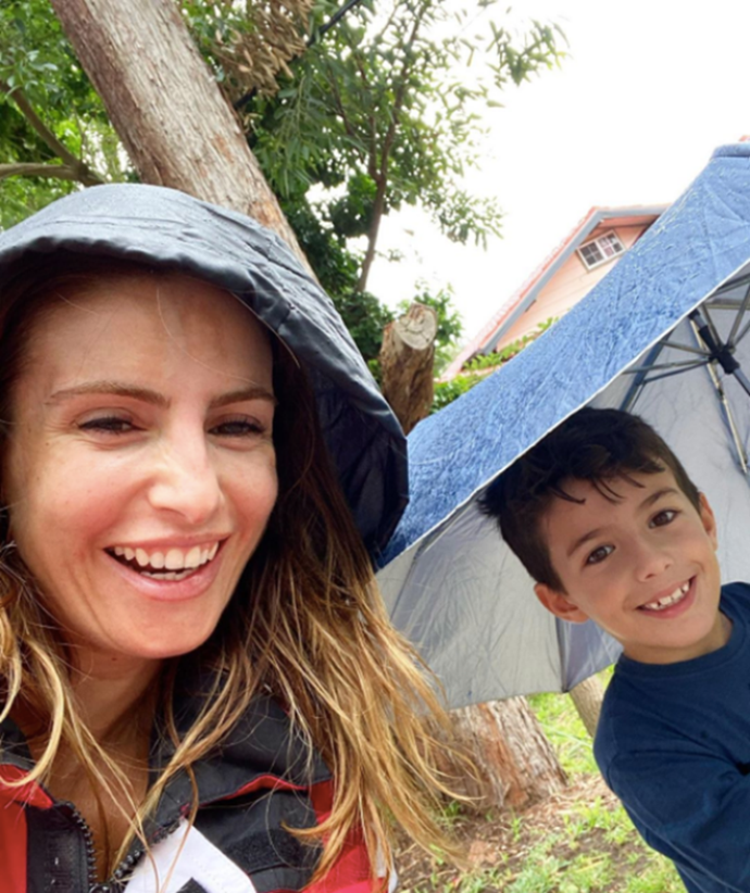 Ada with her son Johnas.