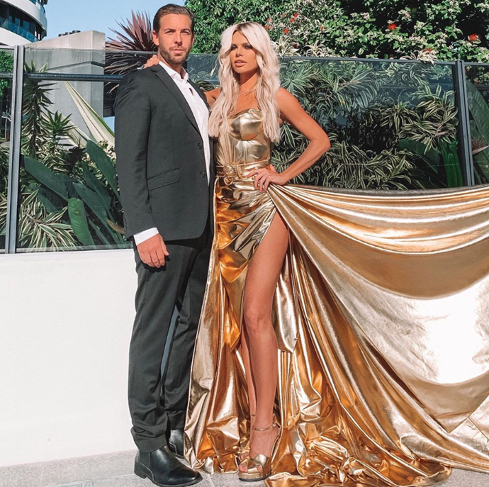 Sophie's gold gown for the 2019 TV WEEK Logies was the talk of the town, but she had some good-looking arm candy too.