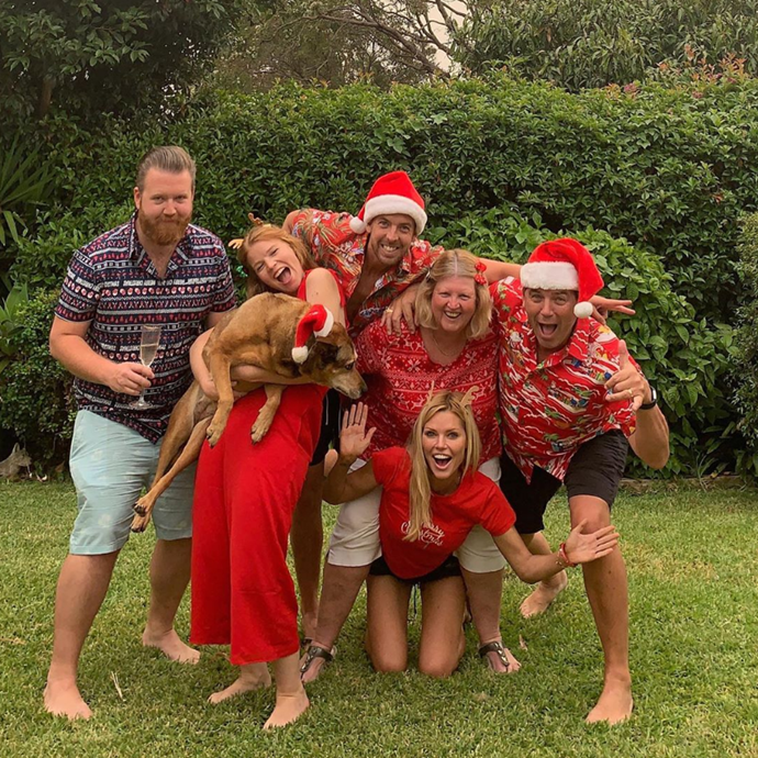 The Gross family Christmas photo was a laugh but the lead-up looked even funnier.