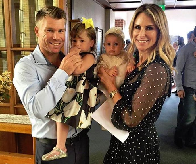"**Ivy Mae Warner** <br><br> ""@CandyFalzon and I are happy to announce the arrival of our little girl Ivy Mae Warner to the world. Mum & bub doing fantastic,"" cricket pro David Warner beamed back in 2014 after his wife Candice gave birth to their first daughter."