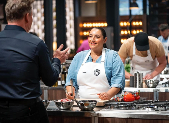 **Rose Adam** didn't quite nail her Pasta Not Pasta dish at the pressure test at the Enter Via Laundry but not everyone can say they offered Gordon Ramsay a job in their cafe!