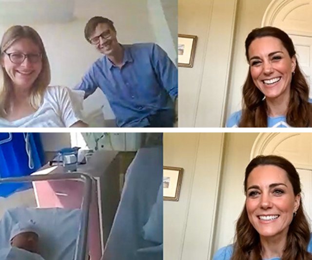 Duchess Catherine surprised two new parents with a video call earlier this month.