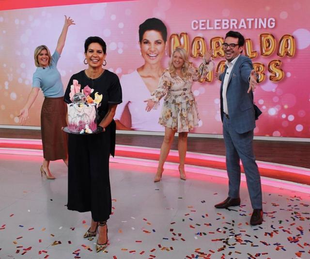 The Studio 10 cast celebrate Narelda's milestone.