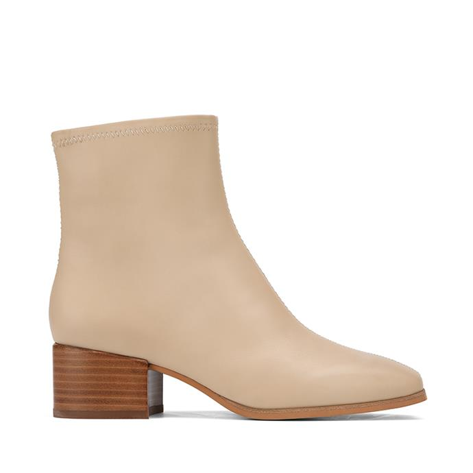 "**Wittner soft leather ankle boot, $280** <br> Check if mum's size is in stock [here](https://wittner.com.au/Olyvier-Ecru-Leather-Soft-Leather-Ankle-Boot|target=""_blank"")."