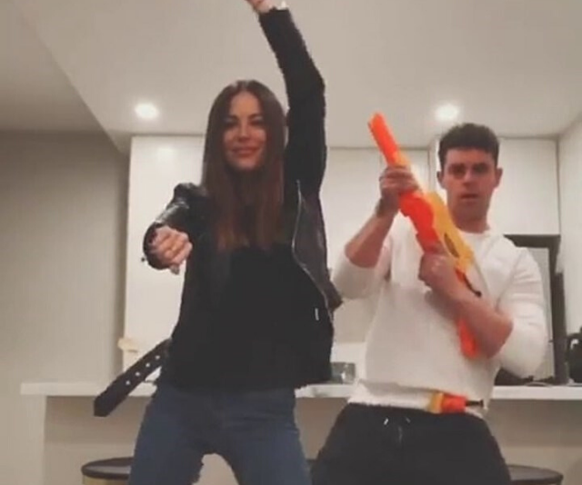 KC and Michael's Nerf gun Tik Tok video spared all-out war.