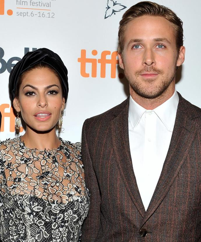 **Eva Mendes & Ryan Gosling ** <br><br>  They're one of Hollywood's favourite couples, but unfortunately for us, they prefer to keep their relationship very private.  <br><br> Eva and Ryan have welcomed not one but two baby girls, both a surprise to fans - Esmeralda Amada Gosling, five, and Amada Lee Gosling, four.
